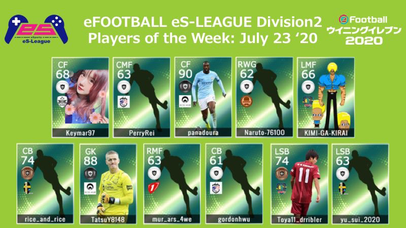 eFOOTBALL eS-LEAGUE 6th Division2 Players Of The Week 06