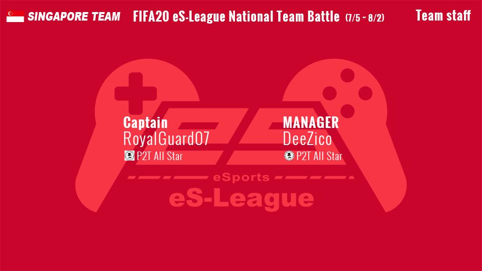 eS-League FIFA20 proclub singapore nationalteam